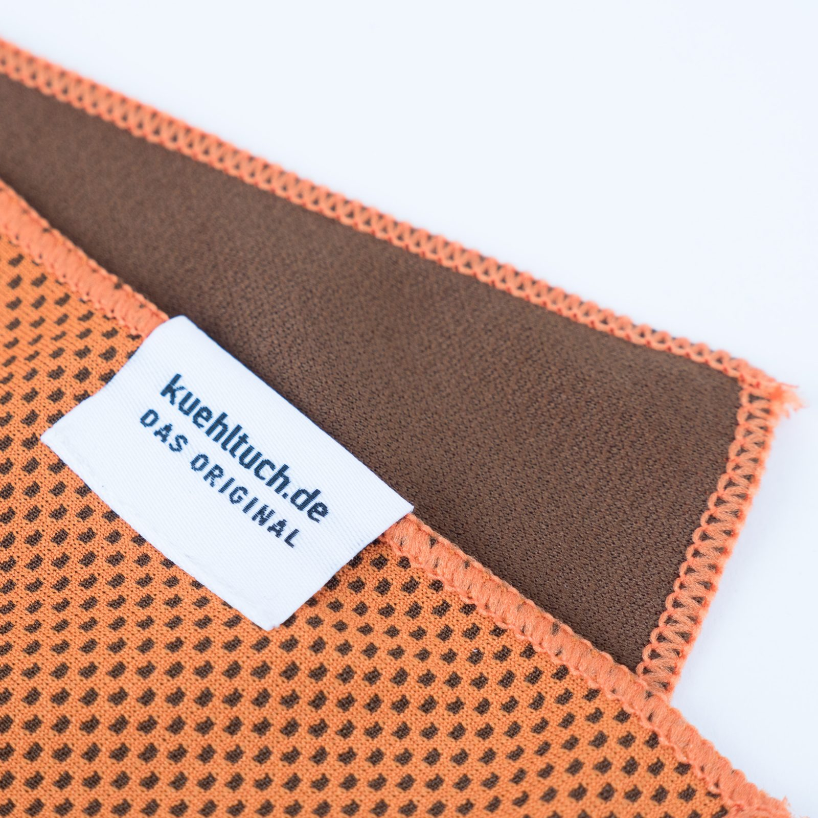 Kuehltuch orange Label