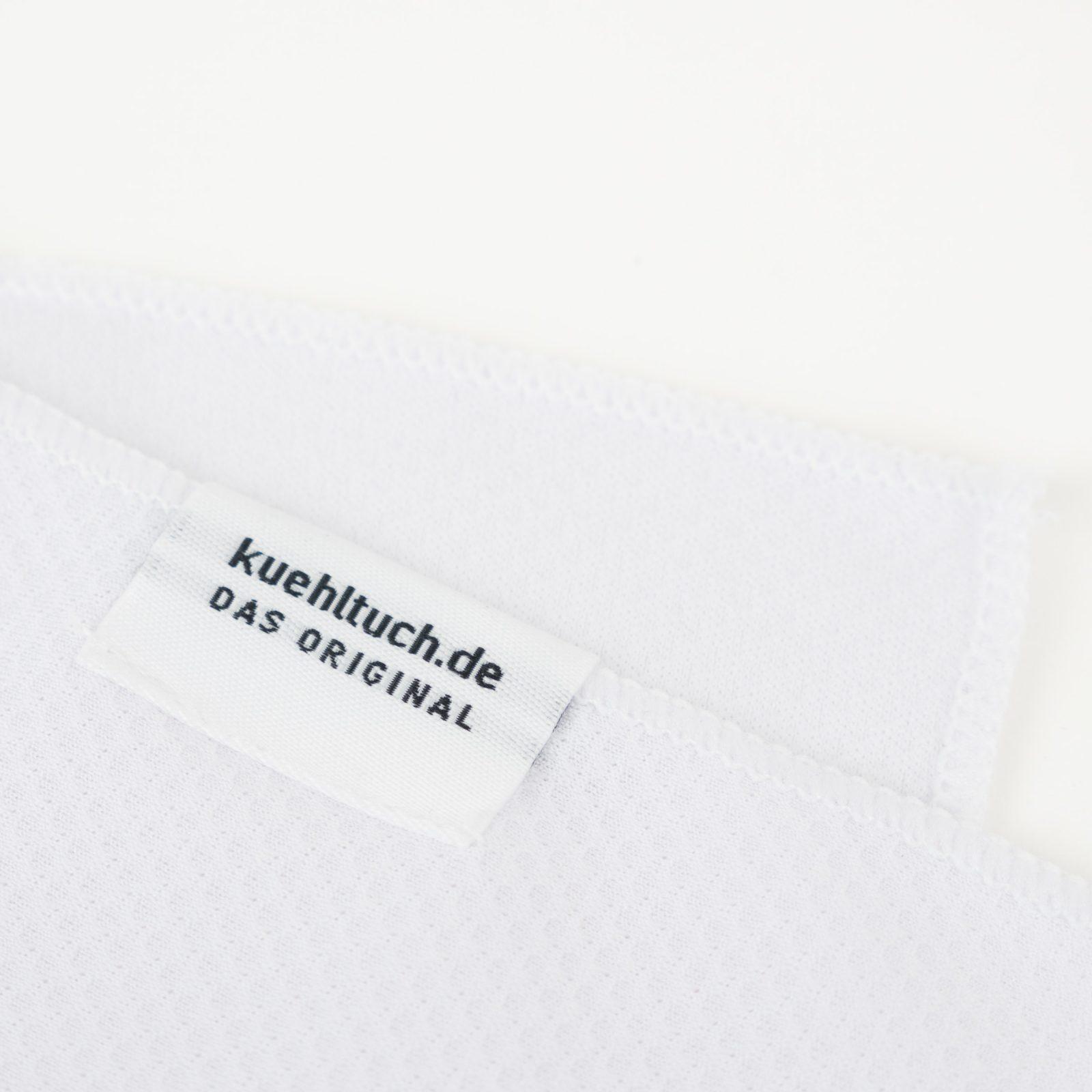 Kuehltuch weiß Label